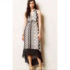 Maeve high low polka dot maxi dress